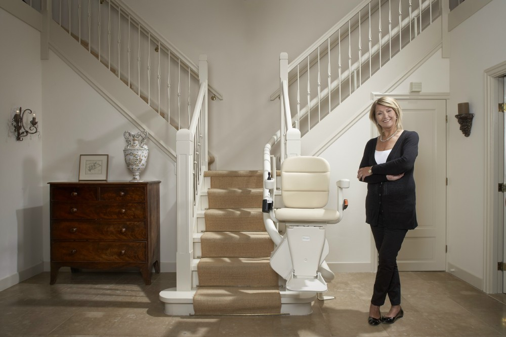 Curved stairlifts are made to measure